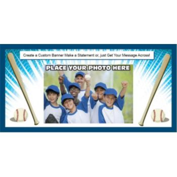Baseball Team Custom Photo Banner