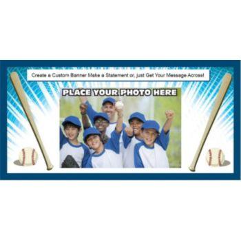 Baseball Team Custom Photo Banner