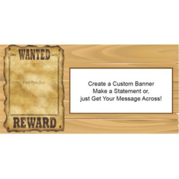 Wanted Poster Custom Banner