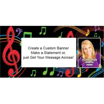 Musical Memories Custom Photo Banner
