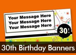 30th Birthday Custom Banners