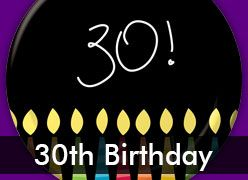 30th Birthday Decorations & Party Supplies