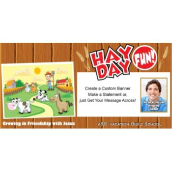 VBS Hay Day Fun Custom Photo Banner