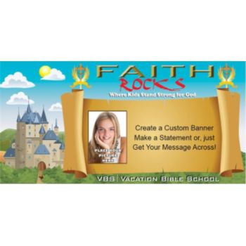 VBS Faith Rocks Custom Photo Banner