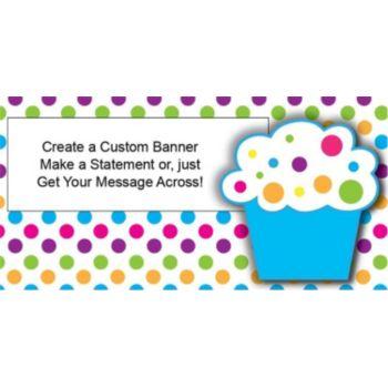 Cupcake Custom Banner