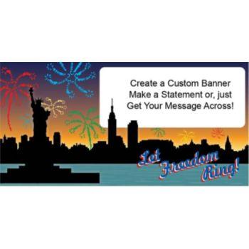 Let Freedom Ring Custom Banner