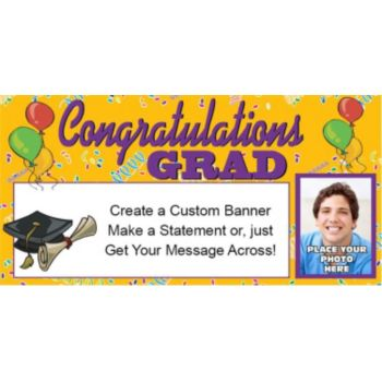 Congratulations Grad Custom Photo Banner