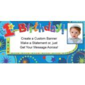 1St Birthday Boy Custom Photo Banner