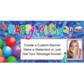 Happy Birthday Confetti Custom Photo Banner