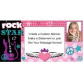 Rocker Girl Custom Photo Banner