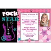 Rocker Girl Custom Photo Personalized Invitations