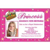 Princess Theme Custom Photo Personalized Invitations