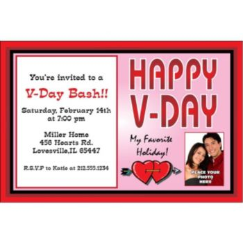 Valentines Day Party Custom Photo Personalized Invitations