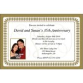 Wedding Elegance Custom Photo Personalized Invitations