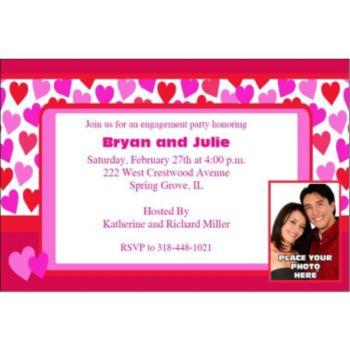Key to Your Heart Custom Photo Personalized Invitations