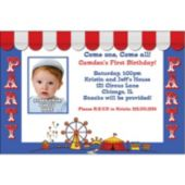 Circus Party Custom Photo Personalized Invitations