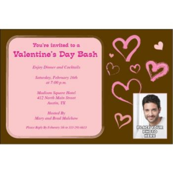 Modern Hearts Custom Photo Personalized Invitations