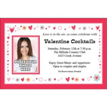 Be My Valentine Custom Photo Personalized Invitations