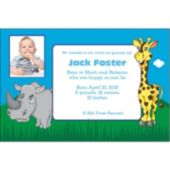 Juvenile Safari Custom Photo Personalized Invitations
