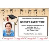 Congrats Graduate Custom Photo Personalized Invitations