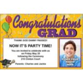 Congratulations Grad Custom Photo Personalized Invitations