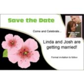 Pink Flower Custom Photo Personalized Save The Date