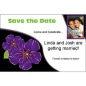 Purple Flower Custom Photo Personalized Save The Date