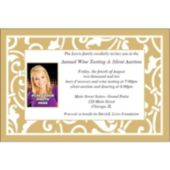 Gold Scroll Custom Photo Personalized Invitations