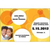 Yellow Circles  Custom Photo  Personalized Invitations