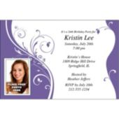Purple Sophisticate  Custom Photo  Personalized Invitations