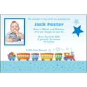 Choo Choo Train Custom Photo Personalized Invitations