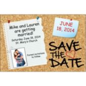 Cork Board Custom Photo Save The Date