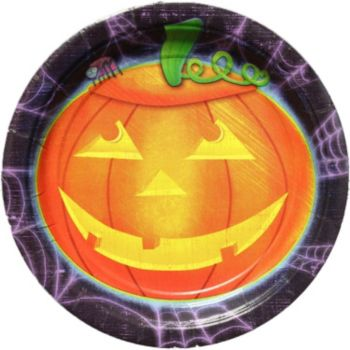 """Playful Pumpkins  7"""" Plates  50 Per Pack"""