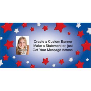 Patriotic Star Custom Photo Banner