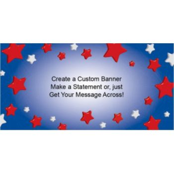 Patriotic Star Custom Banner