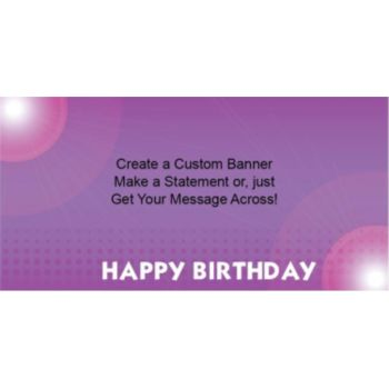 Birthday Purple Custom Banner