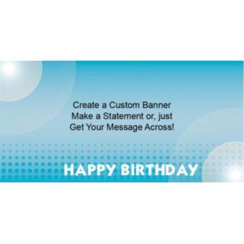 Blue Birthday Dots Custom Banner