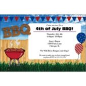 4th of July BBQ Personalized Invitations