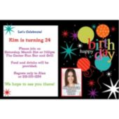 Birthdays are Great Custom Photo Personalized Invitations