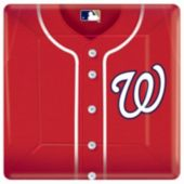 "Washington Nationals 10"" Square Plates - 18 Pack"