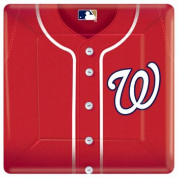"Washington Nationals  10"" Square Plates"