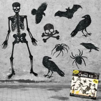 Halloween Black Glitter Cutout Kit