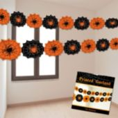 Black & Orange Spider Web Paper Garland