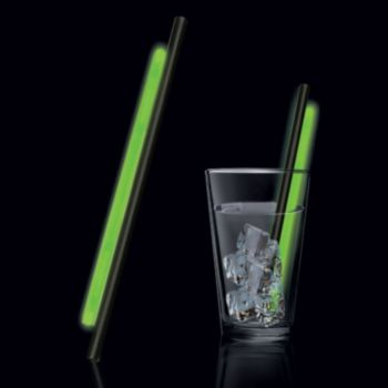 9'' Green Glow Straw - 25 Per Pack