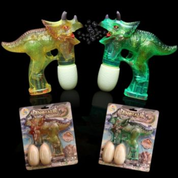 Dinosaur LED Toy Bubble Gun