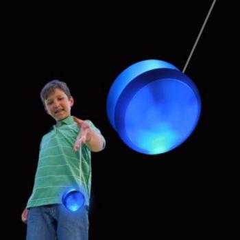 White Plastic 2'' Yo Yo with Blue Lights