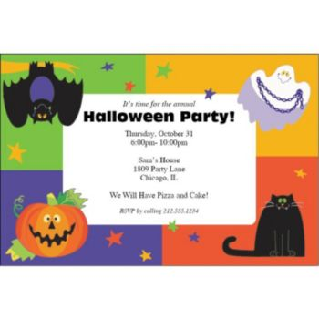 Friendly Frights Personalized Invitations