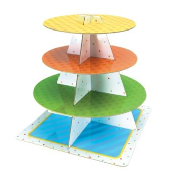 Party Polka Dots  Cupcake Tiered Tray