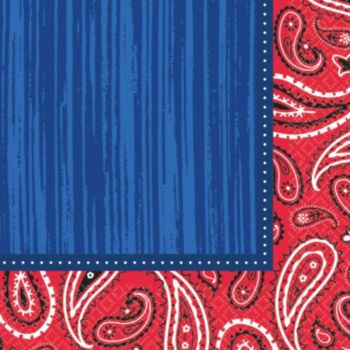 Western Paisley  Lunch Napkins