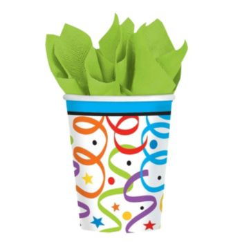 Birthday Ribbons  9oz Cups